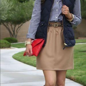 J.Crew City Wool Skirt in Tan. Size 8.